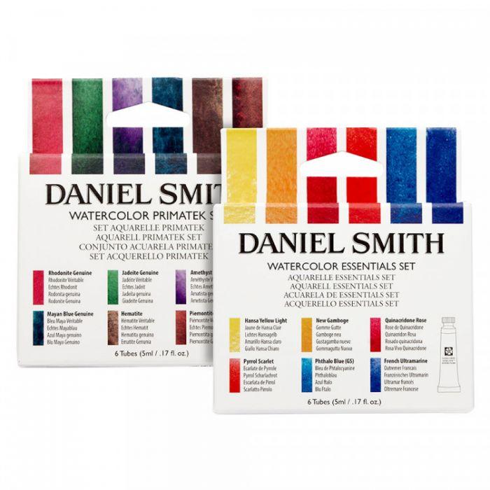 Акварель Daniel Smith, два набора: Essentials и PrimaTek 12 цветов по 5 мл.