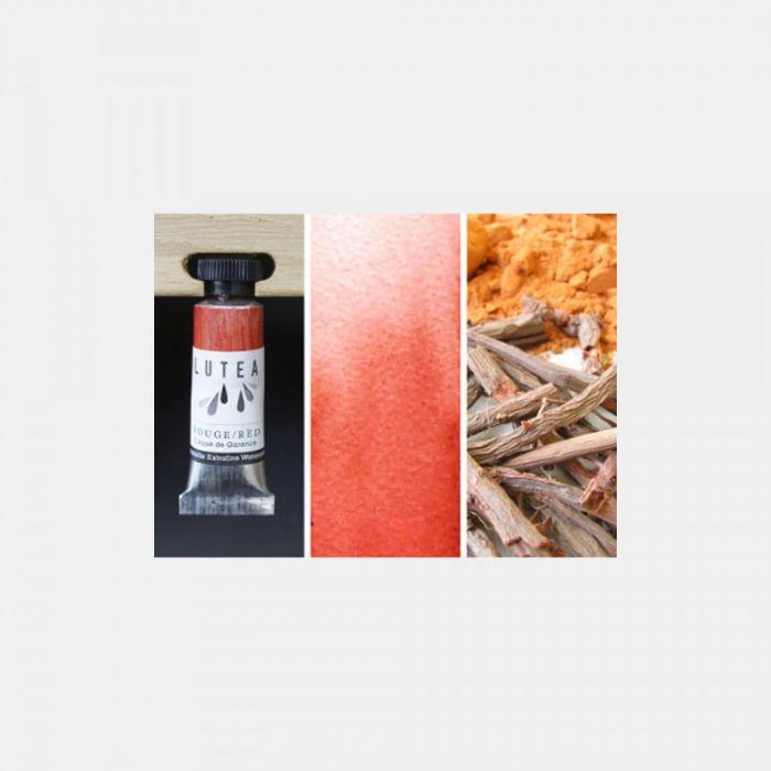 Акварель органическая LUTEA -  Red (Madder). Туба 9 мл