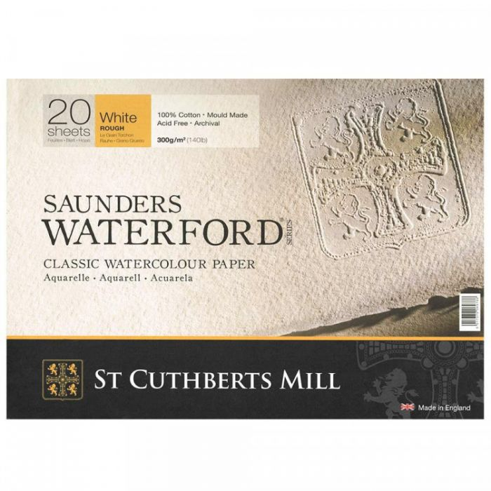 Склейка SAUNDERS WATERFORD 300 г/м 31x41 100% хлопок ROUGH 20 листов