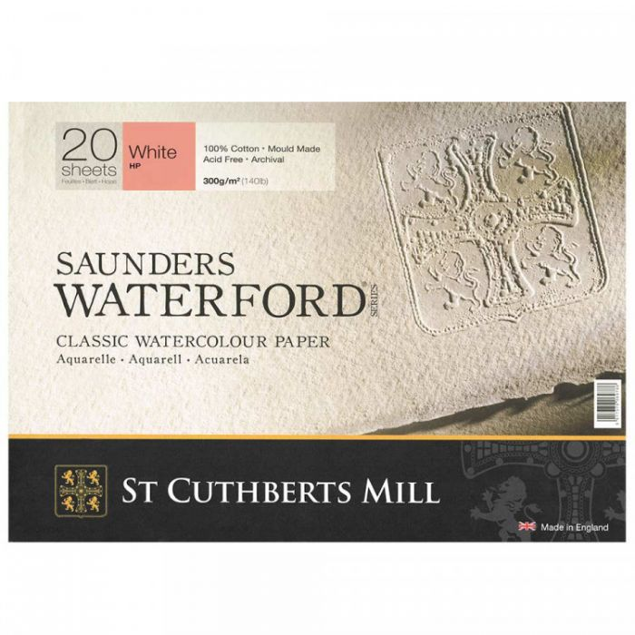 Склейка SAUNDERS WATERFORD 300 г/м 23х31 100% хлопок Hot Pressed сатин 20 листов