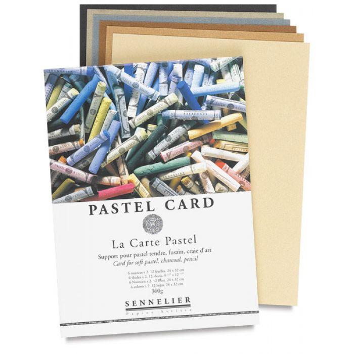 Набор бумаги для пастели Sennelier Pastel card, 12 листов, 16х24 см., 360 гр.