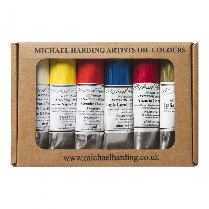 """Масляные краски MICHAEL HARDING. Набор """"Portrait Set II Lead Free"""" 6 цветов по 40 мл"""