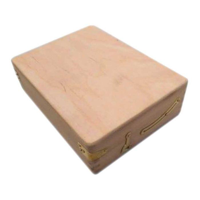 Деревянный мини этюдник с отсекими для красок и кистей (13х18 см)