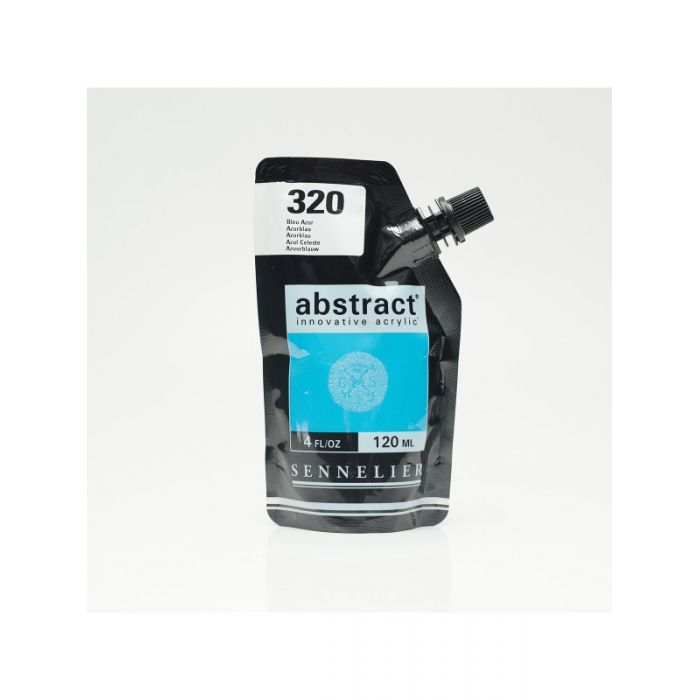 Краска акриловая Abstract Sennelier 120 мл Azur Blau 320