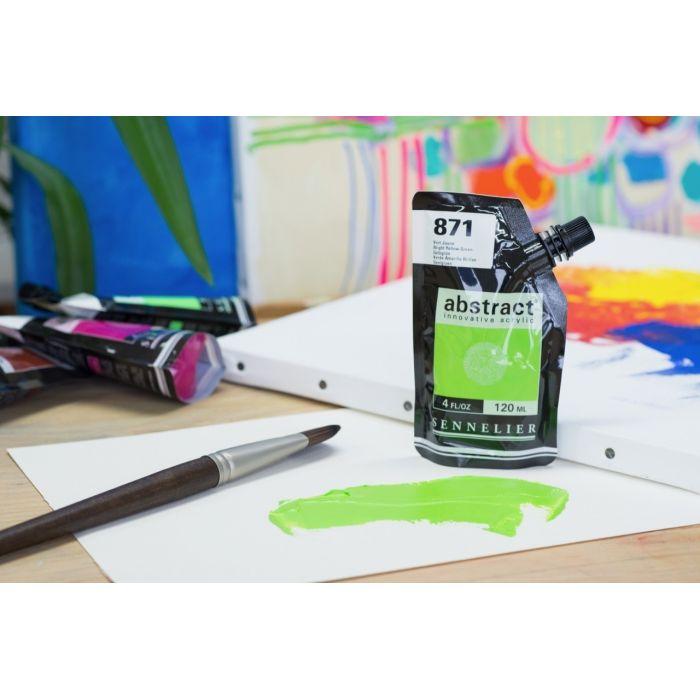Краска акриловая Abstract Sennelier 120 мл Bright Yellow Green 871