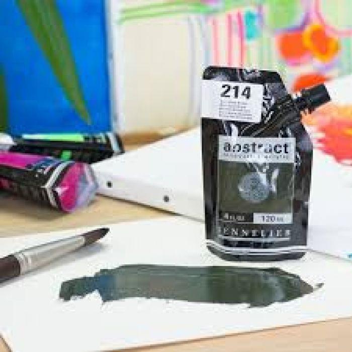 Краска акриловая Abstract Sennelier 120 мл Burnt Green Earth 214