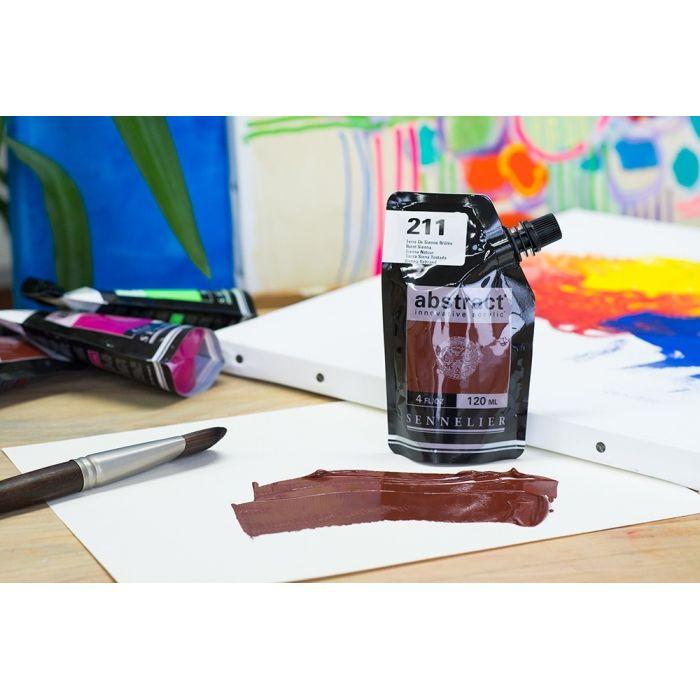 Краска акриловая Abstract Sennelier 120 мл Burnt Sienna 211