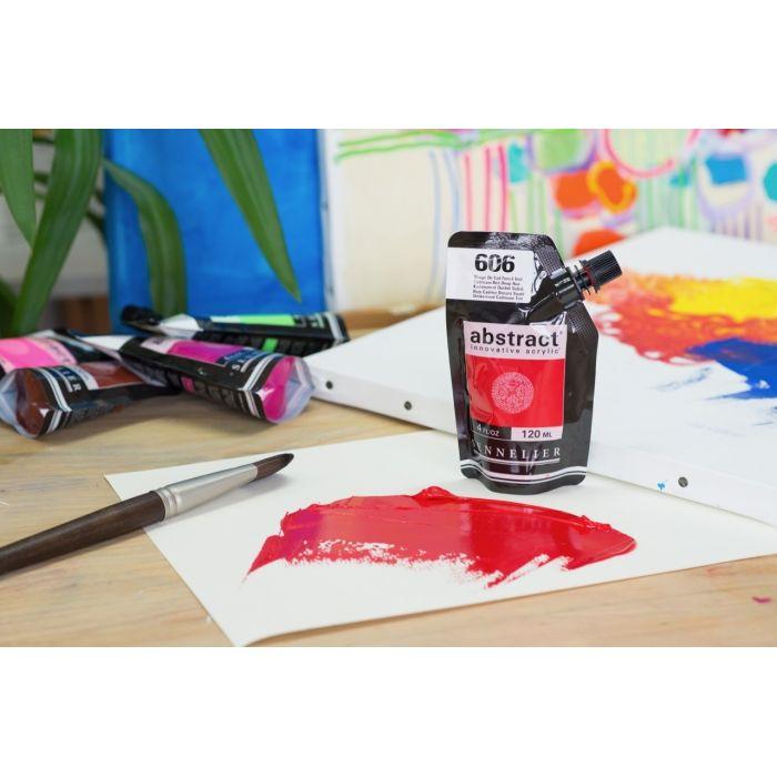 Краска акриловая Abstract Sennelier 120 мл Cadmium Red Deep Hue 606