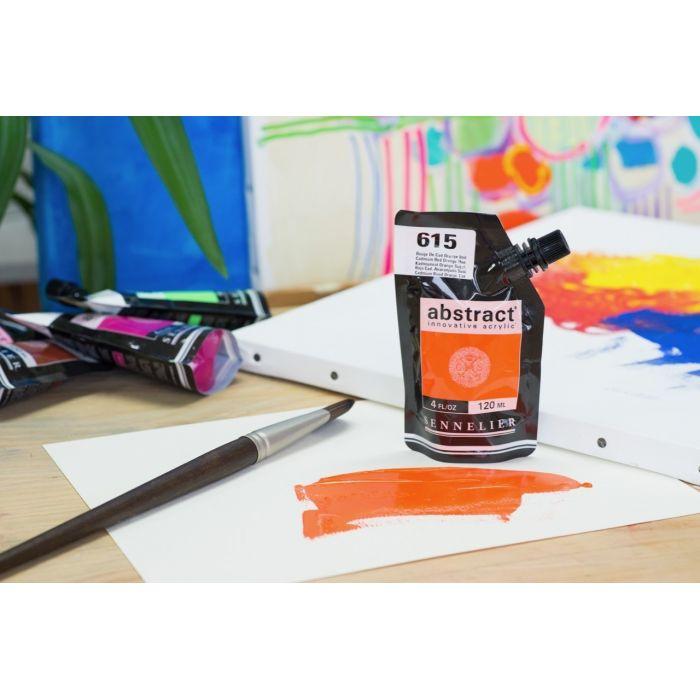 Краска акриловая Abstract Sennelier 120 мл Cadmium Red Orange Hue 615