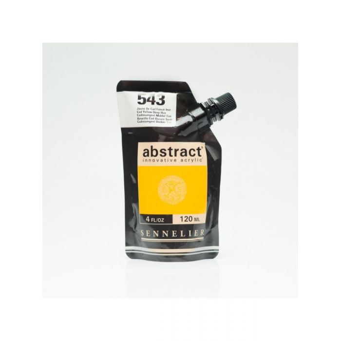 Краска акриловая Abstract Sennelier 120 мл Cadmium Yellow Deep Hue 543