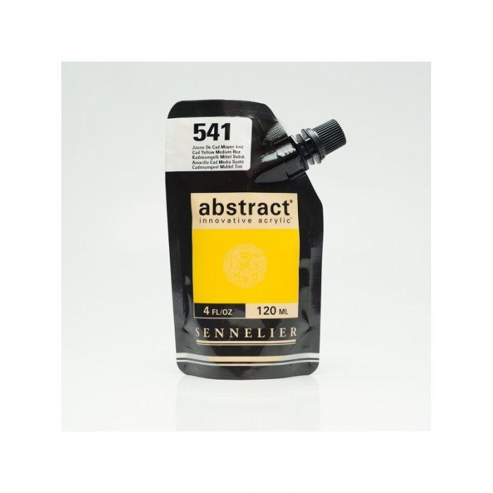 Краска акриловая Abstract Sennelier 120 мл Cadmium Yellow Medium Hue 541