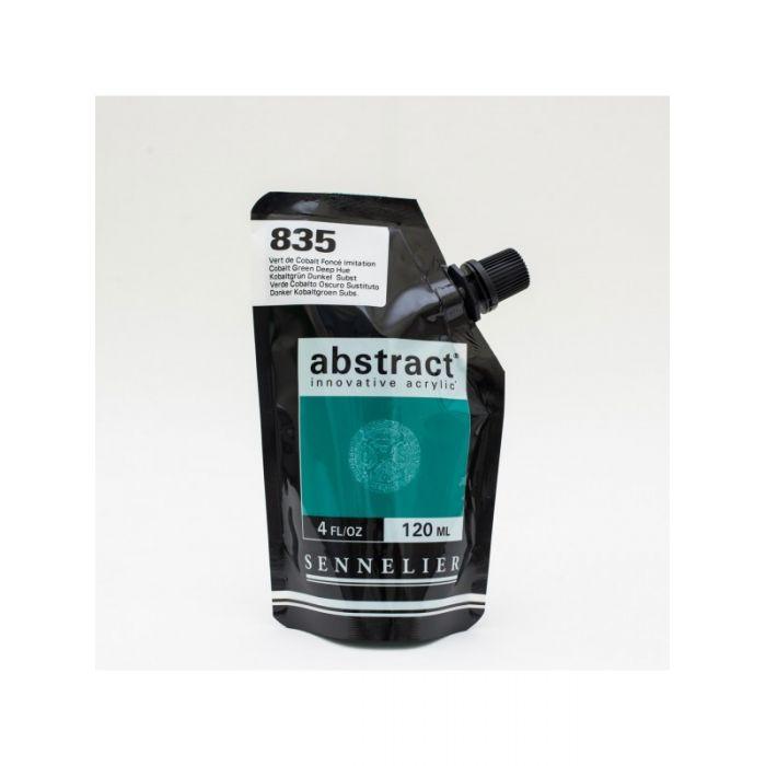 Краска акриловая Abstract Sennelier 120 мл Cobalt Green Deep 835