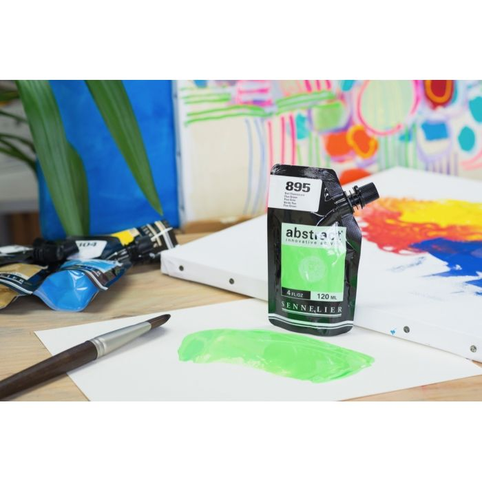 Краска акриловая Abstract Sennelier 120 мл Fluo Green 895
