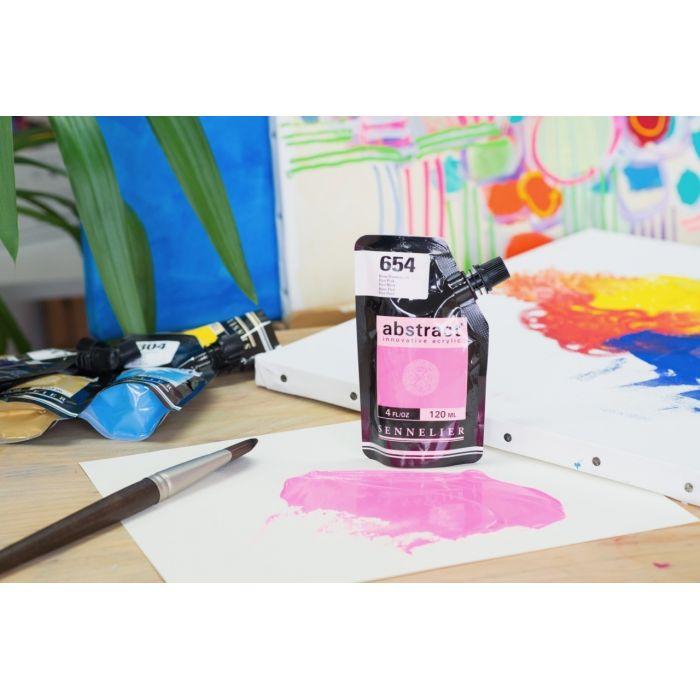 Краска акриловая Abstract Sennelier 120 мл Fluo Pink 654