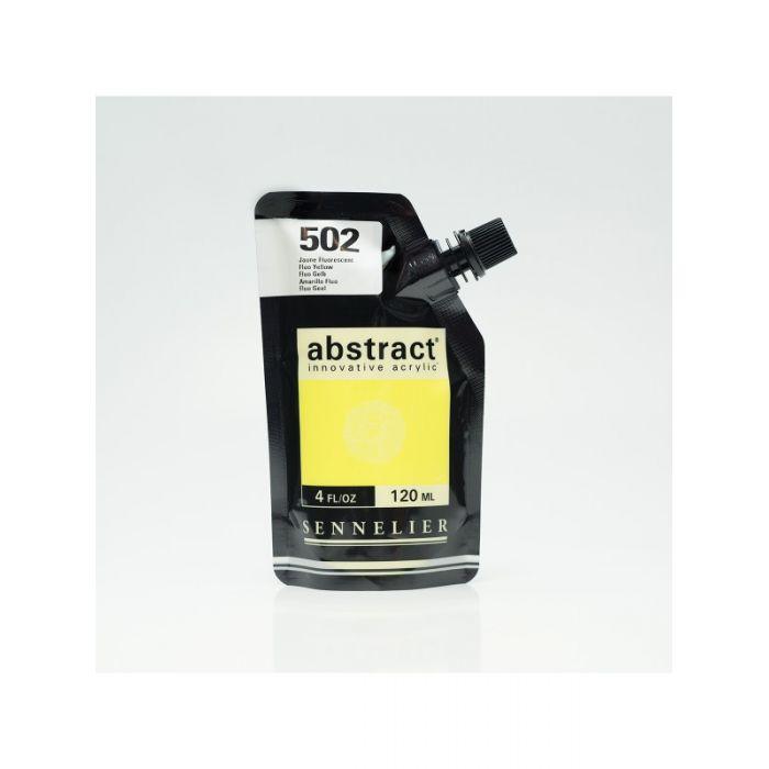 Краска акриловая Abstract Sennelier 120 мл Fluo Yellow 502