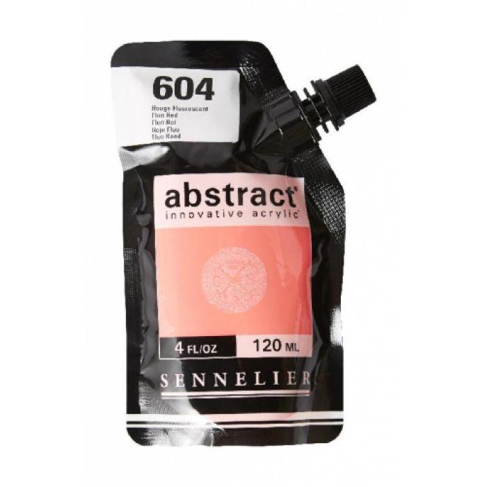 Краска акриловая Abstract Sennelier 120 мл Fluorescent Red 604