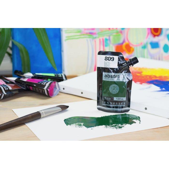 Краска акриловая Abstract Sennelier 120 мл Hooker`s Green 809