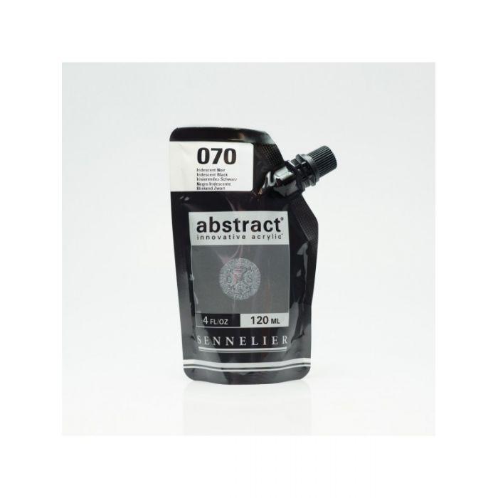 Краска акриловая Abstract Sennelier 120 мл Iridescent Black 070