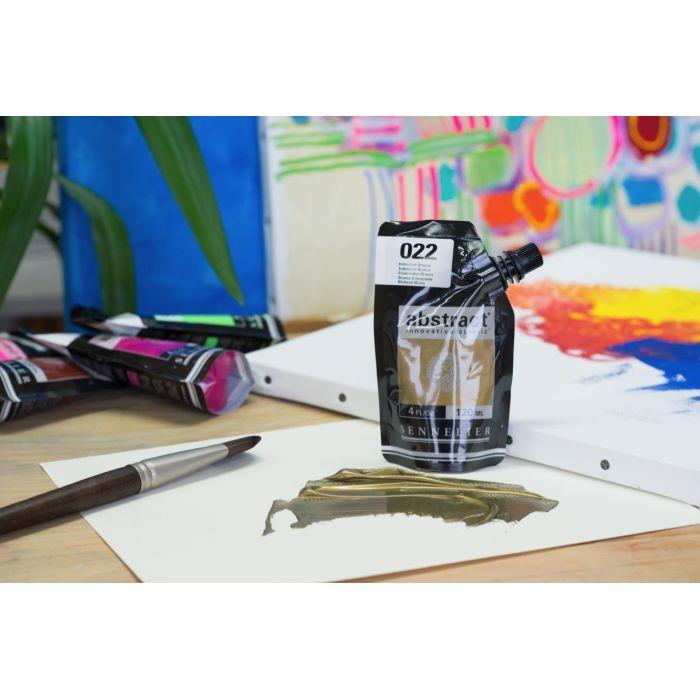 Краска акриловая  Abstract Sennelier 120 мл Iridescent Bronze 022