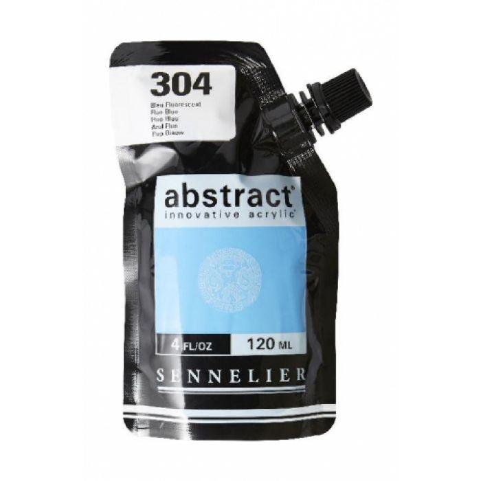 Краска акриловая Abstract Sennelier 120 мл Iridescent Fluo Blue 304