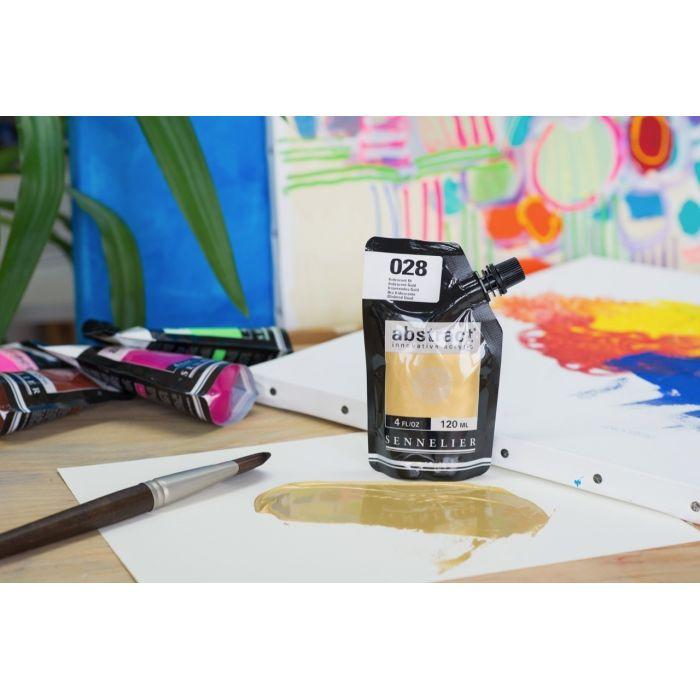 Краска акриловая  Abstract Sennelier 120 мл Iridescent Gold 028
