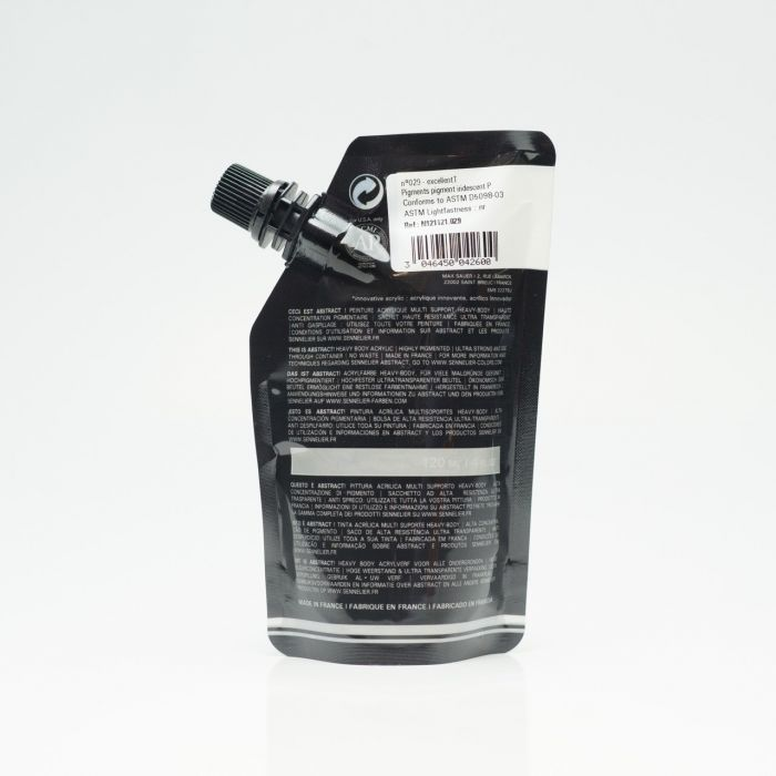 Краска акриловая Abstract Sennelier 120 мл Iridescent Silver 029