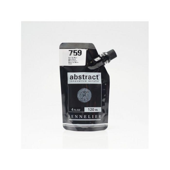 Краска акриловая Abstract Sennelier 120 мл Mars Black 759
