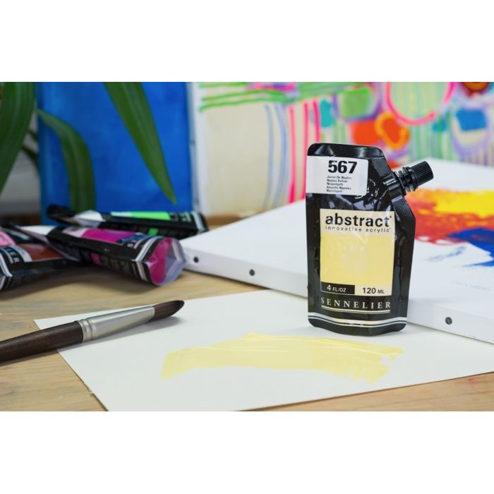 Краска акриловая Abstract Sennelier 120 мл Naples Yellow 567
