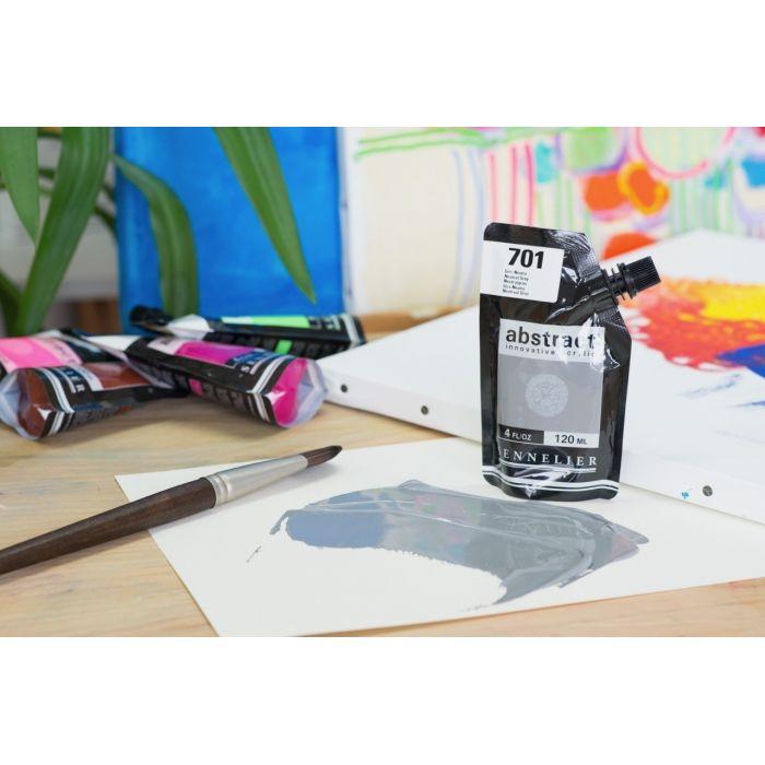 Краска акриловая Abstract Sennelier 120 мл Neutral Grey 701