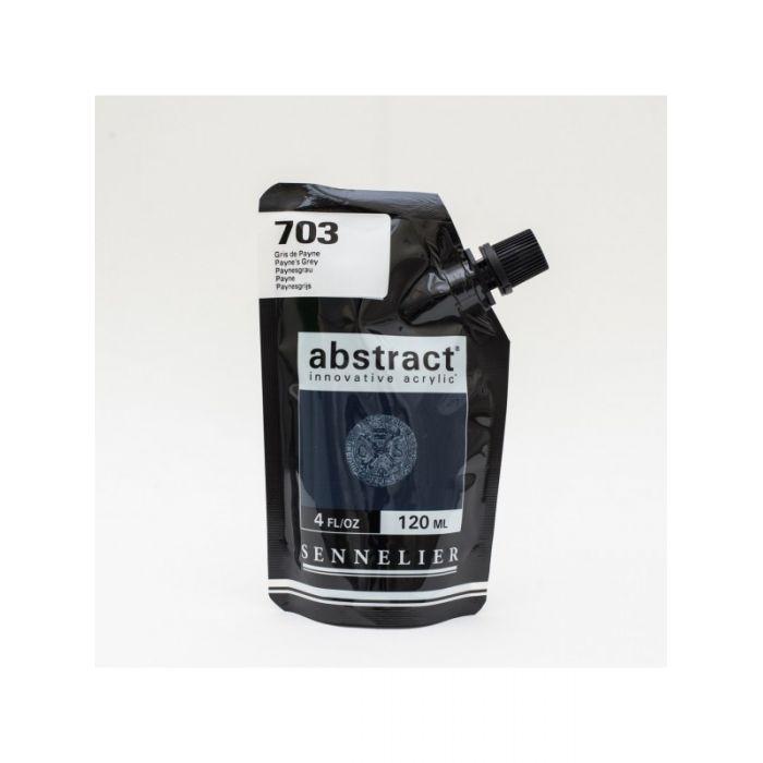 Краска акриловая Abstract Sennelier 120 мл Payne's Grey 703