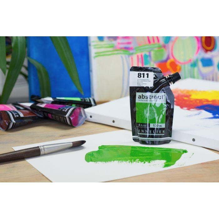 Краска акриловая Abstract Sennelier 120 мл Permanent Green Light 811