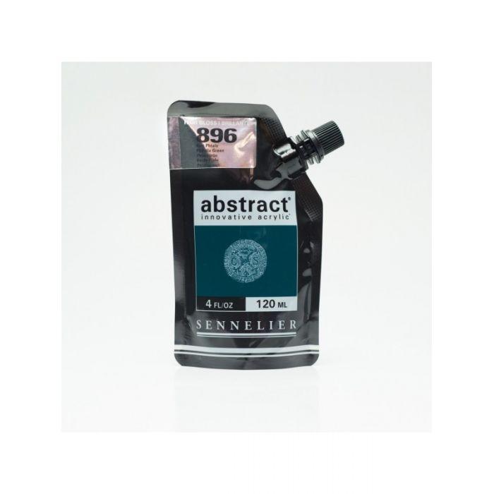 Краска акриловая Abstract Sennelier 120 мл Phthalo Green 896