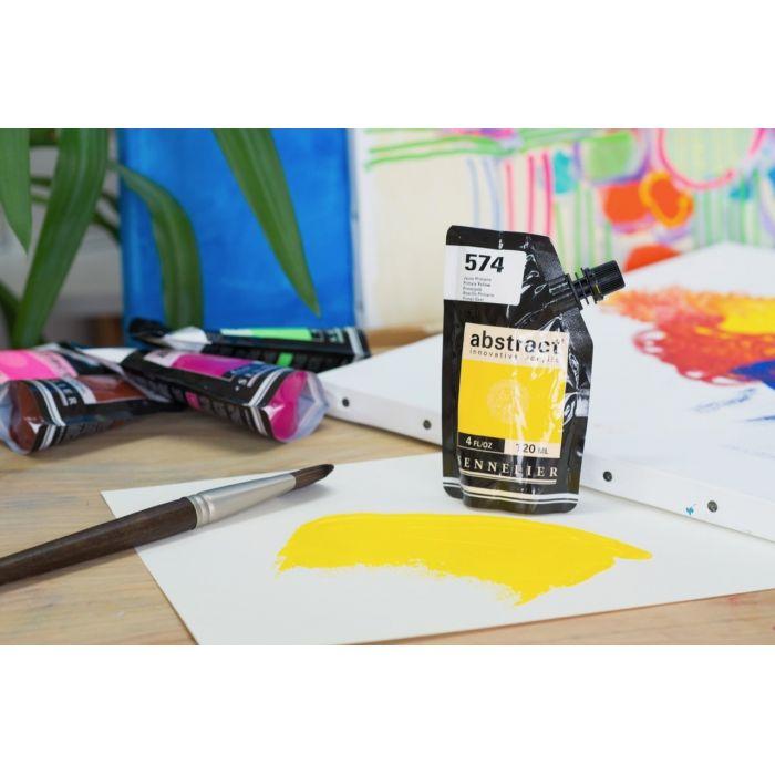 Краска акриловая Abstract Sennelier 120 мл Primary Yellow 574