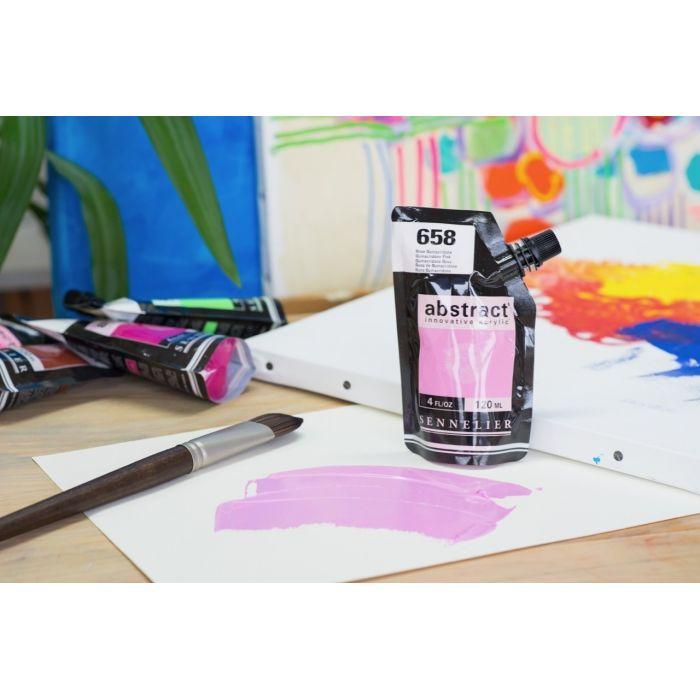 Краска акриловая Abstract Sennelier 120 мл Quinacridone Pink 658