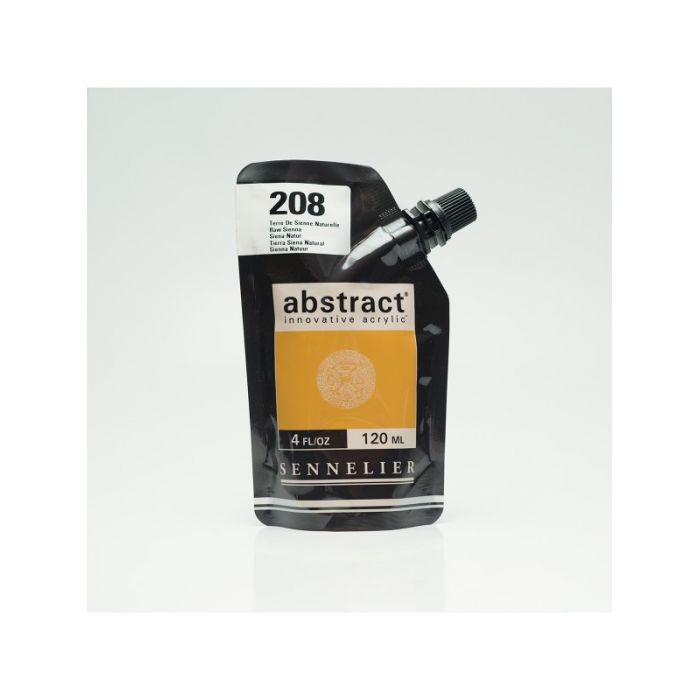 Краска акриловая Abstract Sennelier 120 мл Raw Sienna 208