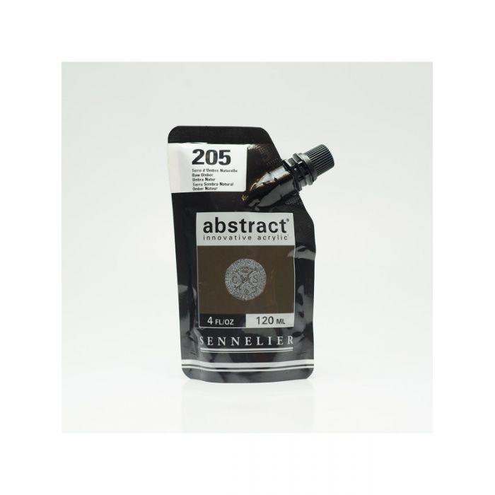 Краска акриловая Abstract Sennelier 120 мл Raw Umber 205