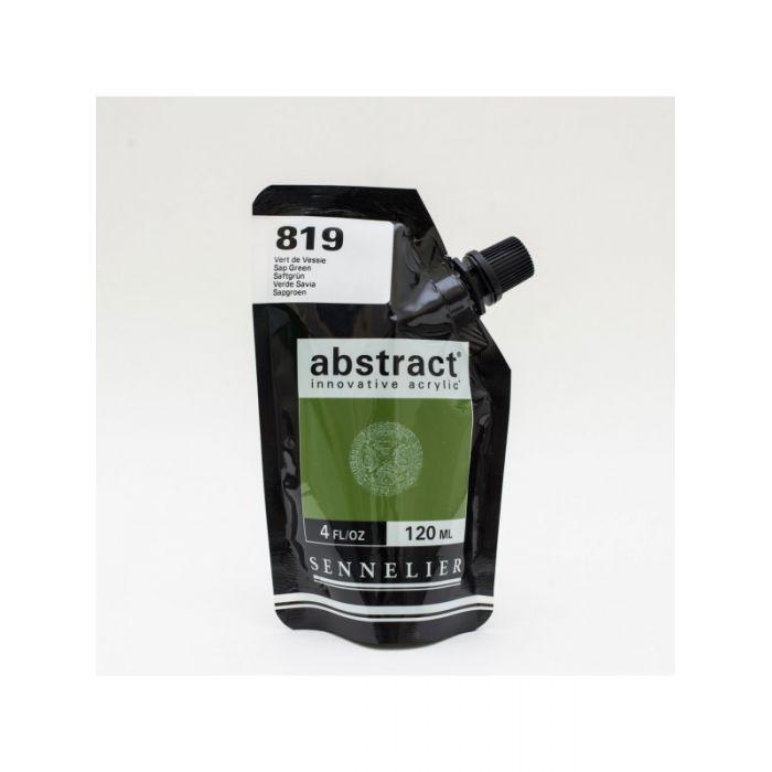 Краска акриловая Abstract Sennelier 120 мл Sap Green 819