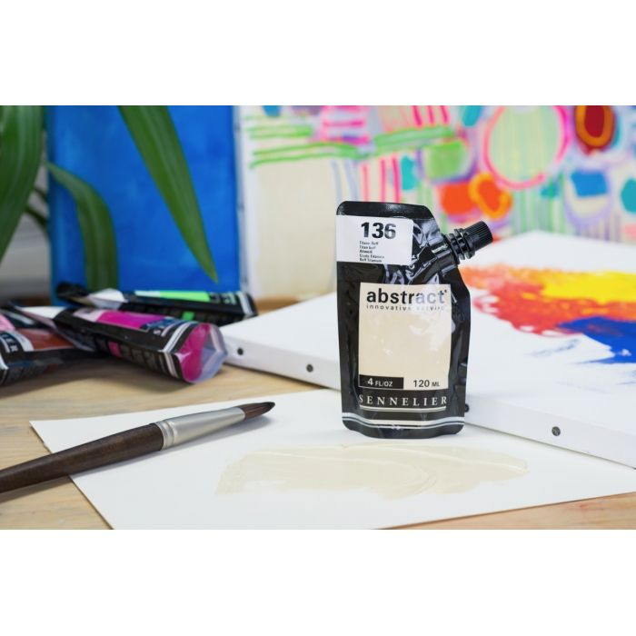 Краска акриловая Abstract Sennelier 120 мл Titan buff 136