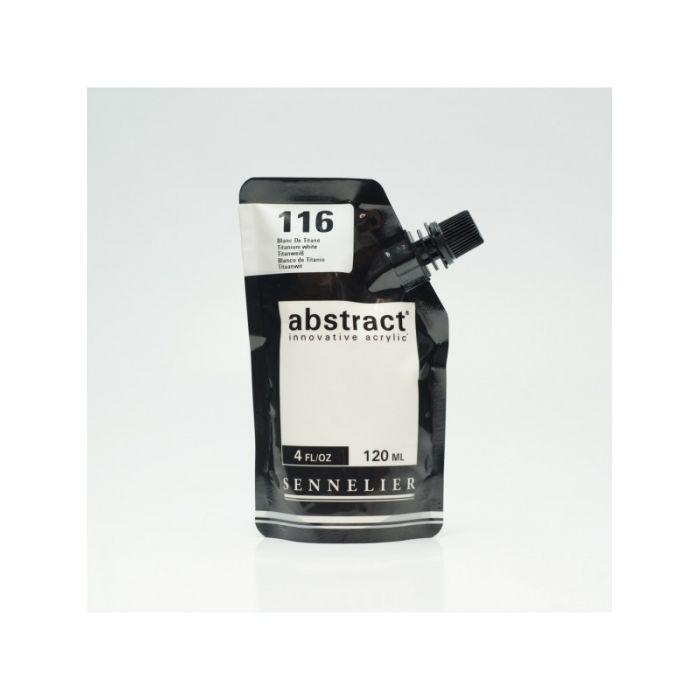 Краска акриловая Abstract Sennelier 120 мл Titanium white 116