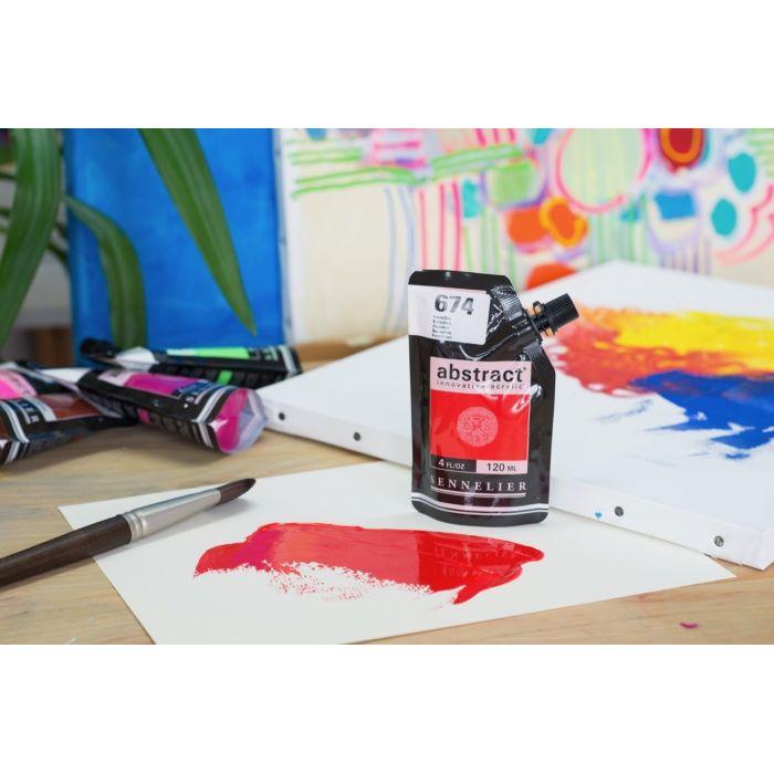 Краска акриловая Abstract Sennelier 120 мл Vermilion 674