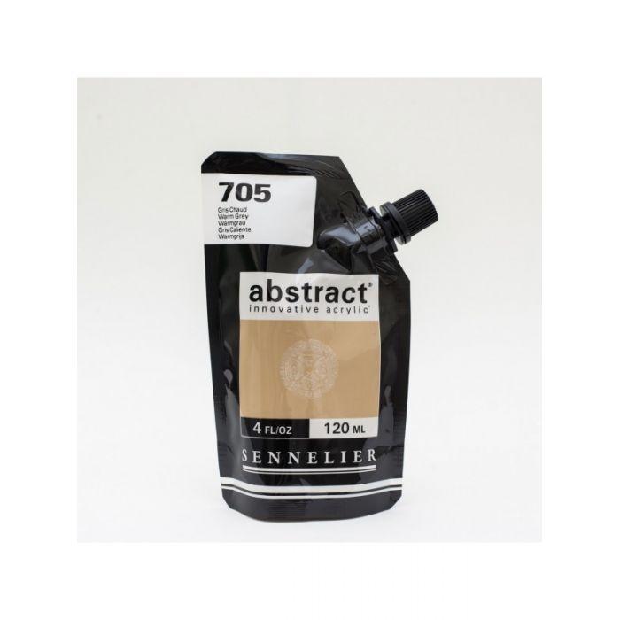 Краска акриловая Abstract Sennelier 120 мл Warm Grey 705