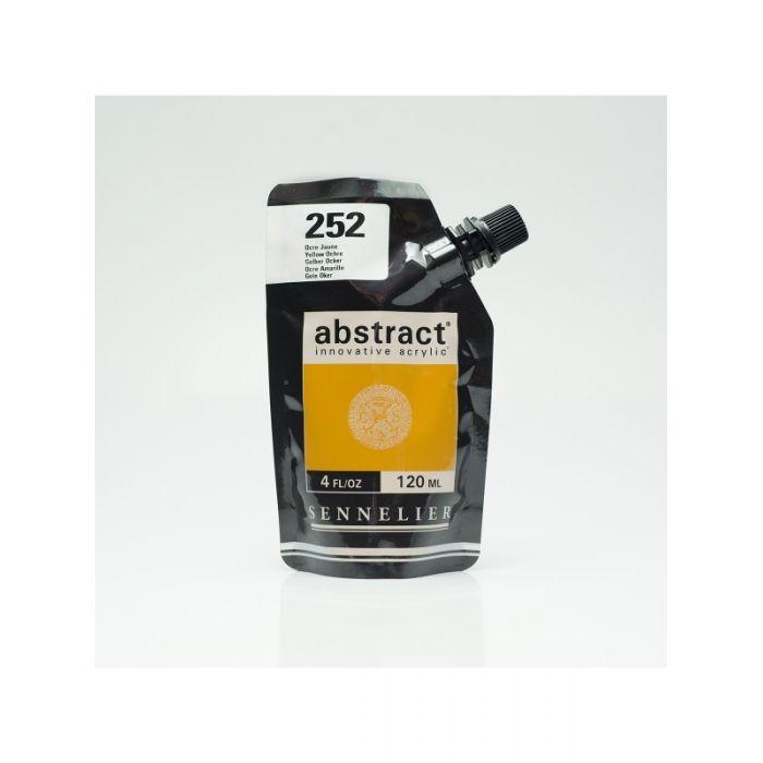Краска акриловая Abstract Sennelier 120 мл Yellow Ochre 252