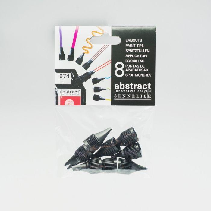 Насадки для акриловых красок Sennelier Abstract, 8 шт
