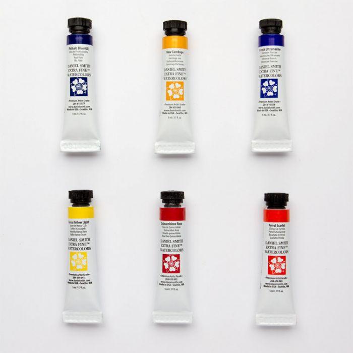 Акварель Daniel Smith. Набор Essentials 6 цветов в тубах по 5 мл.