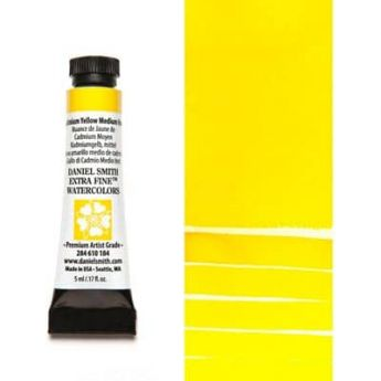 Акварель Daniel Smith - Cadmium Yellow Medium Hue в тубе 5 мл., серия 3-184 - (in 012)