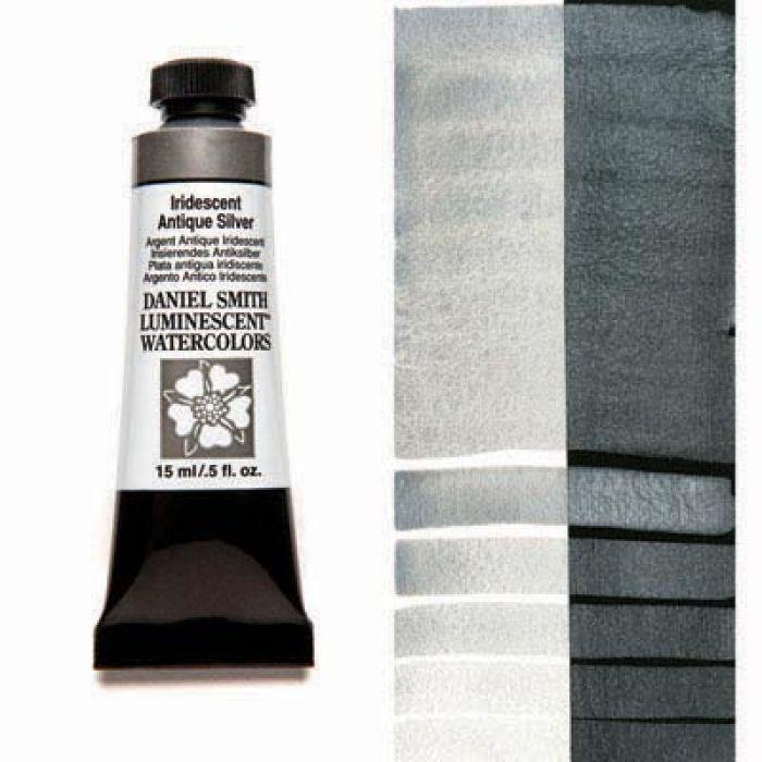 Акварельные краски DANIEL SMITH - Iridescent Antique Silver (Luminescent) в тубе 15 мл., s 1 - 011