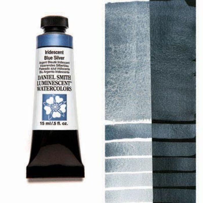 Акварельные краски DANIEL SMITH - Iridescent Blue Silver (Luminescent) в тубе 15 мл., s 1 - 014