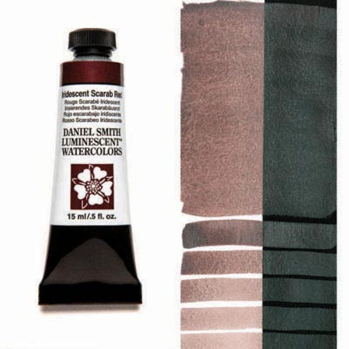 Акварельные краски DANIEL SMITH - Iridescent Scarab Red (Luminescent) в тубе 15 мл., s 1 - 021