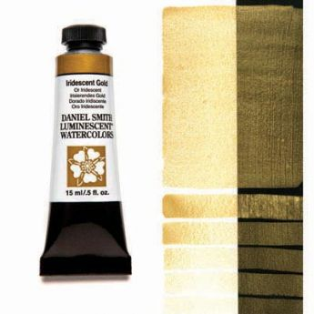 Акварельные краски DANIEL SMITH - Iridescent Gold (Luminescent) в тубе 15 мл., s 1 - 017