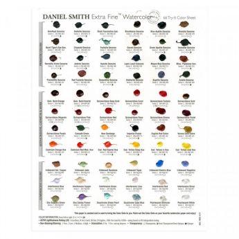 Дот карта акварели Daniel Smith на 66 цветов.